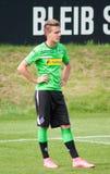 Futbolista Patrick Herrmann en el vestido de Borussia Monchengladbach Foto de archivo