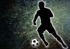 Futbolista que golpea una bola con el pie, ejemplo libre illustration