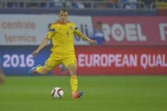 Futbolista - Vlad Chiriches Fotos de archivo libres de regalías
