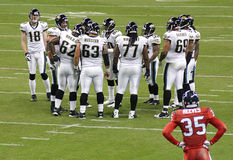 Futbolistas americanos del NFL Fotografía de archivo libre de regalías