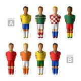 Futbolistas, jugadores de fútbol El Brasil 2014 Foto de archivo