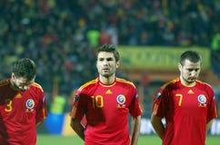 Futbolistas rumanos Fotografía de archivo