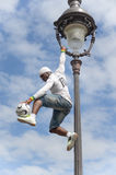 Futbolisty freestyler, Iya Traore Paryż Francja, Maj - 29, 2014 - Zdjęcie Stock