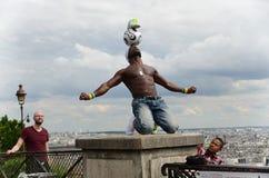 Futbolisty freestyler, Iya Traore Paryż Francja, Maj - 29, 2014 - Zdjęcia Stock