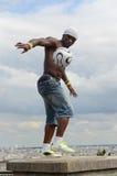 Futbolisty freestyler, Iya Traore Paryż Francja, Maj - 29, 2014 - Fotografia Stock