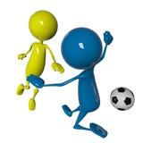 futbolisty gracz ilustracja wektor
