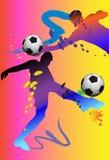 Futbolowa akcja Obraz Royalty Free