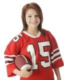 Futbolowa dziewczyna Zdjęcia Royalty Free