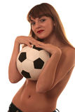 futbolowa dziewczyna Zdjęcie Stock