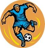 futbolowa kopania gracza piłka nożna royalty ilustracja