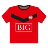futbolowa koszulowa piłka nożna Zdjęcia Royalty Free
