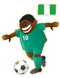futbolowa maskotka Nigeria royalty ilustracja