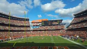 Futbolowa Niedziela w Cleveland zdjęcia stock