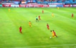 Futbolowa rywalizacja (plama skutka fotografia) Obrazy Royalty Free