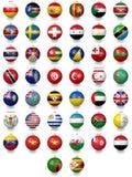 Futbolowe piłek nożnych piłki z flaga państowowa teksturami ilustracja wektor