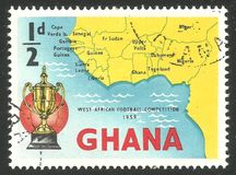 Futbolowe rywalizacje, mapa od afryka zachodnia Zdjęcia Stock