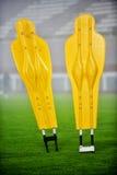 Futbolowe stażowe atrapy Zdjęcia Royalty Free