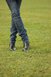 futbolowe zmielone nogi zdjęcie royalty free