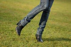 futbolowe zmielone nogi Fotografia Stock