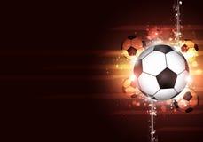 Futbolowego sporta Jaskrawy tło Obrazy Royalty Free