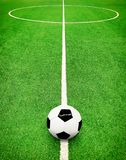 Futbolowej smoły i piłki tło Zdjęcie Stock