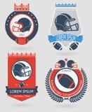 Futbolowi emblematy ilustracja wektor