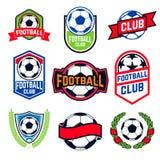 Futbolowi emblematy ustawiający royalty ilustracja