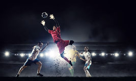 Futbolowi gorący momenty Zdjęcia Royalty Free