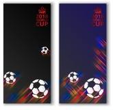 Futbolowi pucharu świata 2018 tła z piłek nożnych piłkami Zdjęcia Stock