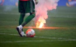 Futbolowi zwolennicy Obrazy Royalty Free