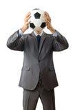 futbolowy biznesmena mienie fotografia royalty free