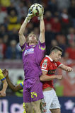 Futbolowy bramkarz - Giedrius Arlauskis Zdjęcia Stock