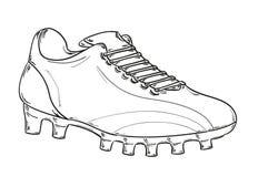 Futbolowy buta nakreślenie Fotografia Royalty Free