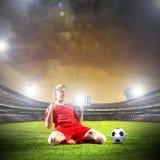 Futbolowy cel zdjęcie royalty free