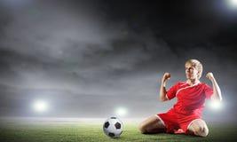 Futbolowy cel Obraz Royalty Free