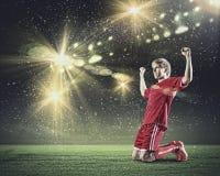 Futbolowy cel Zdjęcie Stock