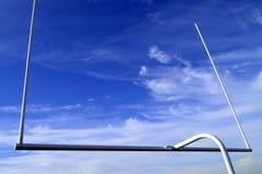 Futbolowy cel na niebieskim niebie Obraz Royalty Free
