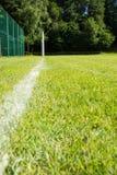 Futbolowy cel z boiskiem Obraz Royalty Free
