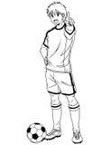 Futbolowy gracz piłki nożnej Zdjęcia Stock