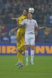 Futbolowy kłoszenie pojedynek Zdjęcie Royalty Free