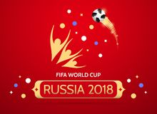 Futbolowy mistrzostwo w Rosja 2018 Zdjęcia Royalty Free