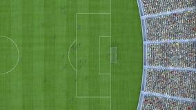 Futbolowy odgórny widok świadczenia 3 d Obraz Royalty Free