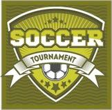 Futbolowy odznaka loga szablonu projekt, piłki nożnej drużyna Zdjęcia Stock