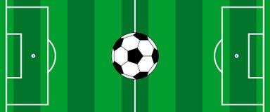 Futbolowy piłka nożna sztandar royalty ilustracja