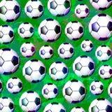 Futbolowy piłki nożnej piłki wzór Zdjęcia Stock