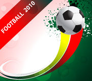 futbolowy plakat Obraz Stock