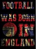 Futbolowy plakatowy England flaga projekt royalty ilustracja