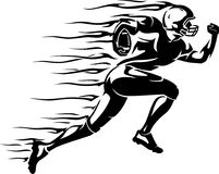 Futbolowy prędkość bieg płomień royalty ilustracja
