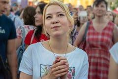 Futbolowy puchar świata, fan fan strefa, festiwal fan Zdjęcie Stock