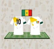 Futbolowy Senegal sporta odzieży tshirt royalty ilustracja